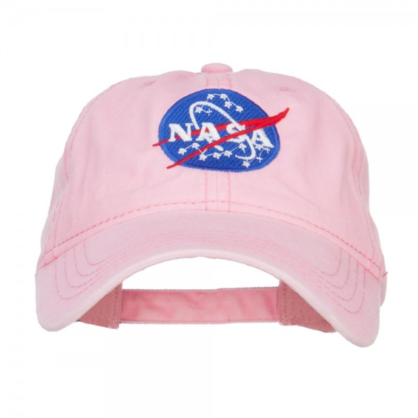 20924c11f9530a Embroidered Cap - Pink NASA Insignia Embroidered Dyed Cap | Coupon Free |  e4Hats.com