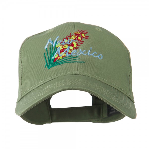 b117b6bec92e3e Embroidered Cap - Olive New Mexico Flower Embroidered Cap | Coupon ...