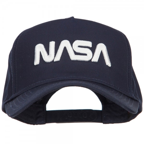 666ff8a7e524 Embroidered Cap - Navy 3D NASA Letters 5 Panel Golf Cap