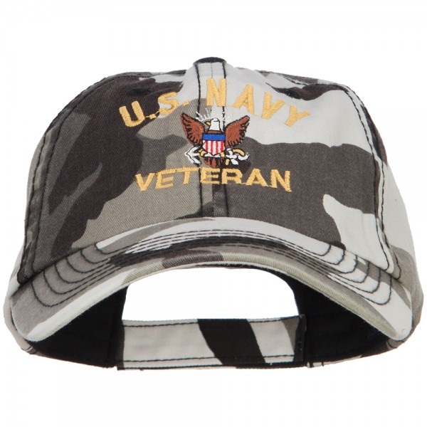 a4c1d047fc1 US Navy Veteran Military Embroidered Enzyme Camo Cap - City