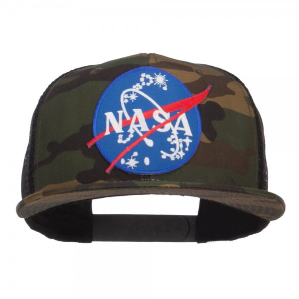 Embroidered Cap - Camo Black NASA Insignia Patched Camo Mesh ... dcae9b6c068