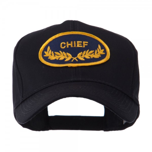 Embroidered Cap - Chief Oak Leaf Oval Military Patch Cap    e4Hats eb7ae9ab125