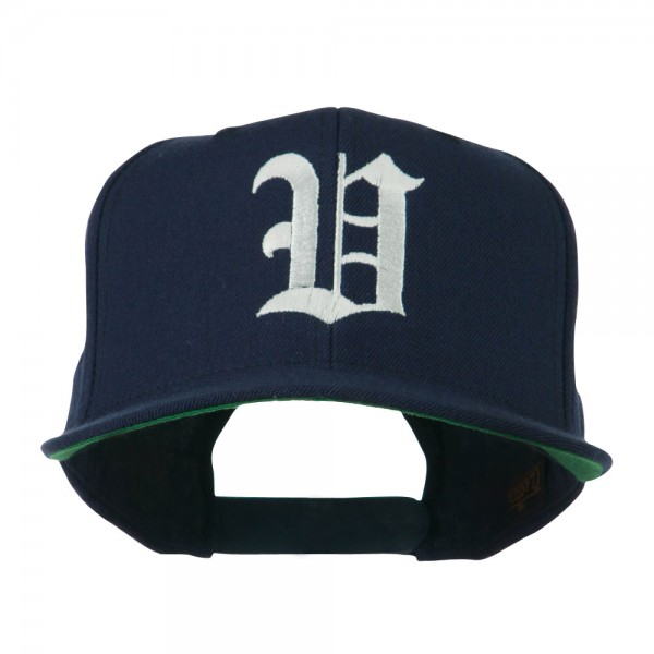 1e0059f489e55f Embroidered Cap - Navy Old English V Flat Bill Cap | Coupon Free ...