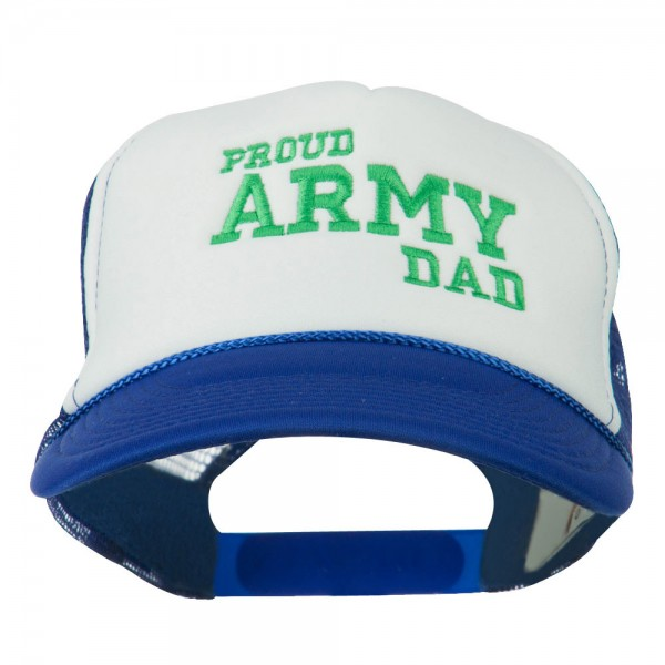Proud Army Dad Embroidered Foam Mesh Cap - Royal White  18.99 ... a32961963d7