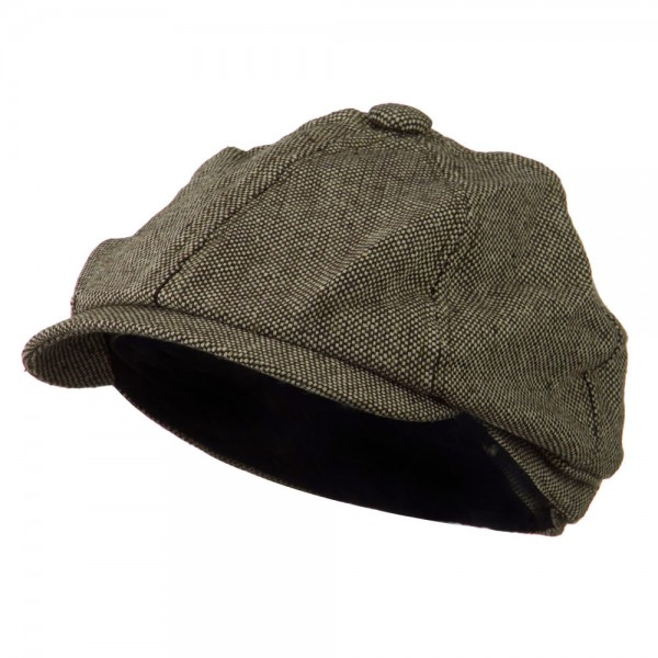 fb06cbb2061  30.49 Poor Boy Short Brim Newsboy Cap - Brown  30.49