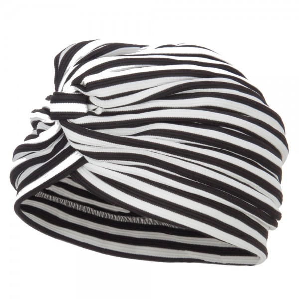 f9cca14bc9f07  22.99 Women s Striped Turban Hat - White  22.99