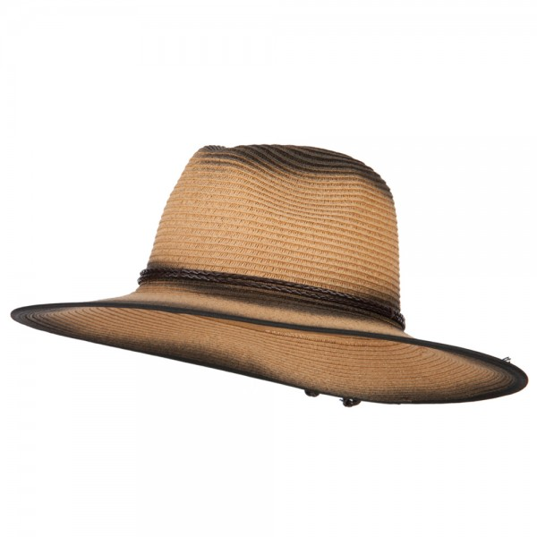 8a9291f49 Painted Panama Paper Straw Fedora Hat - Dk Natural
