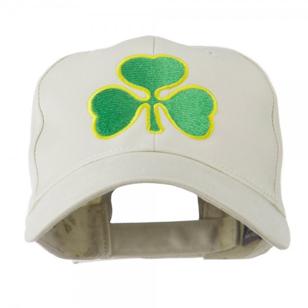 12189b3d4b2  22.99 Clover St.Patrick s Day Embroidered Cap - Stone  22.99 ...