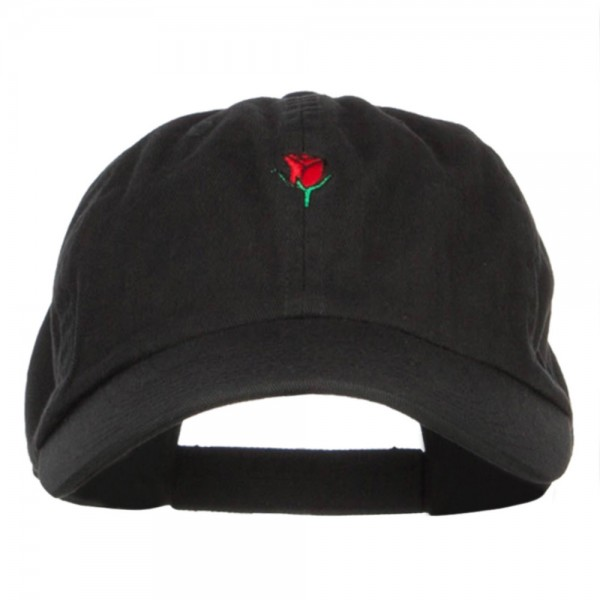 64350e32 Embroidered Cap - Black Mini Rose Embroidered Cap | Coupon Free ...