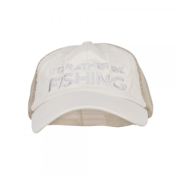 efd7ac58a78 Embroidered Cap - Stone Khaki I d Rather Be Fishing Embroidered Big ...