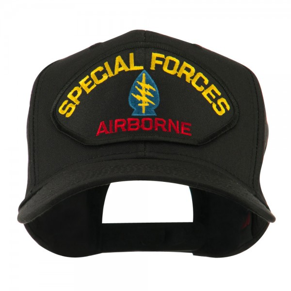 ece3fc93fdc Embroidered Cap - Special Airborne Special Forces Large Patched Cap ...