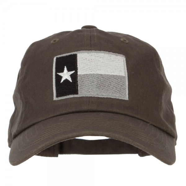 Silver Texas Flag Embroidered Unstructured Washed Cap - Olive  21.99 ... c8e250ebe95