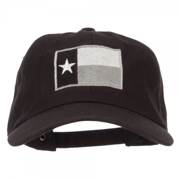 21.99 Silver Texas Flag Embroidered Unstructured Washed Cap - Black  21.99 6583431f148