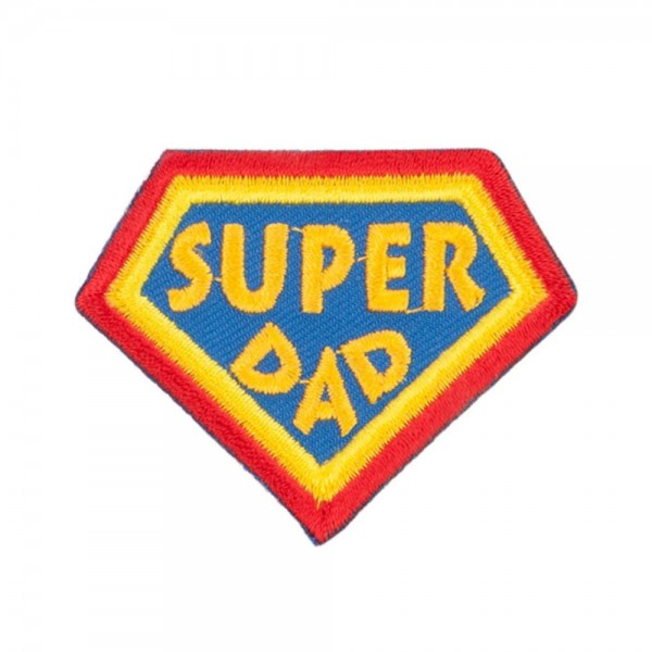 Patch Yellow Super Dad Family Patches E4hats