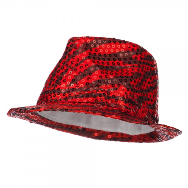 dd351a18107 Fedora - Red Sequin Zebra Fedora    e4Hats