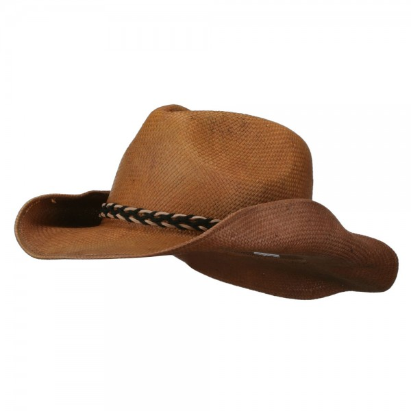 0f3e39f2f Twisted Band Men's Cowboy Hat - Brown
