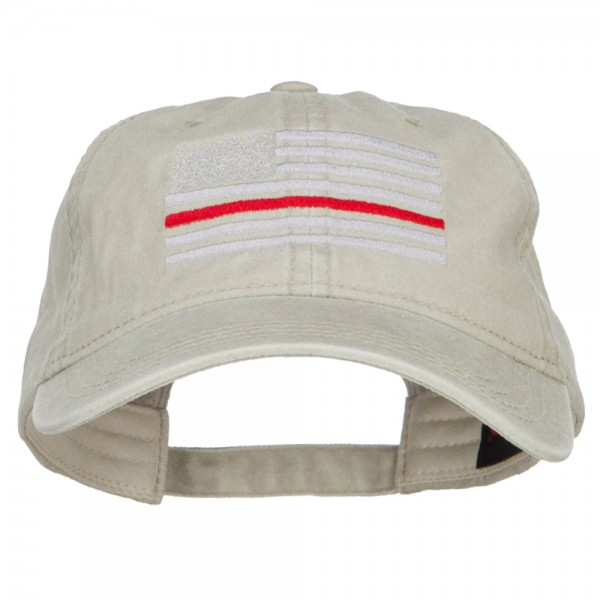 3b61824aa94 $22.99 Thin Red Line Silver USA Flag Embroidered Washed Cap - Stone $22.99