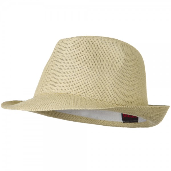 Fedora - Natural Twisted Toyo Straw Fedora Hat  e997dad0e13
