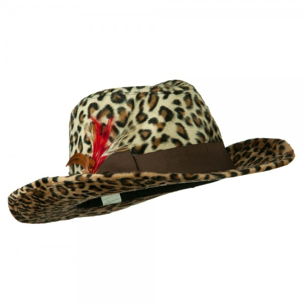 ebe0c9ab42e46 Two Tone Woman s Cowboy Feather Hat - Brown ...