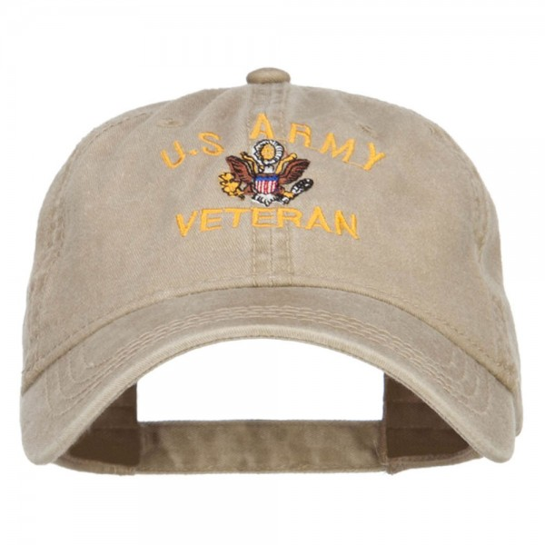 f26b7d6b7a1  22.99 US Army Veteran Military Embroidered Washed Cap - Khaki  22.99