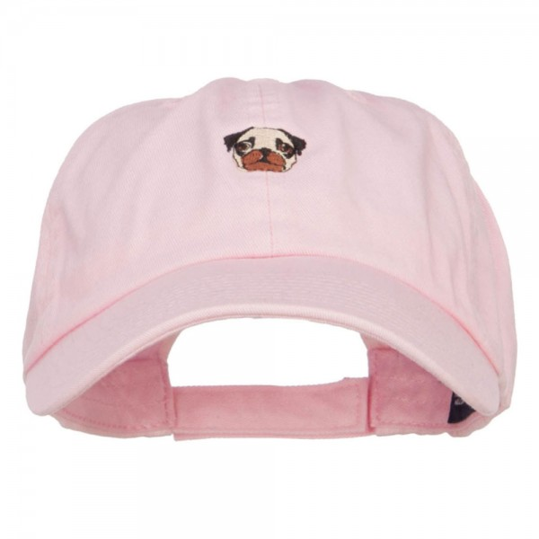 2b6f89d2c53 Embroidered Cap - Pink Pug Dog Face Embroidered Cap