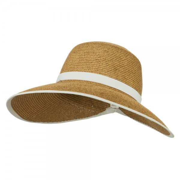37487adc558 $41.99 UPF 50+ Gardening Hat with Ribbon Trim Accent - White Trim $41.99