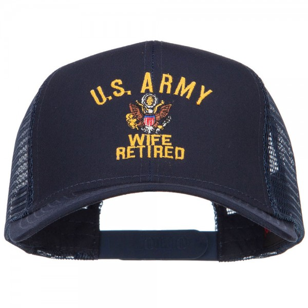 b83e183d Embroidered Cap - Navy Army Wife Retired Embroidered Cap | Coupon ...