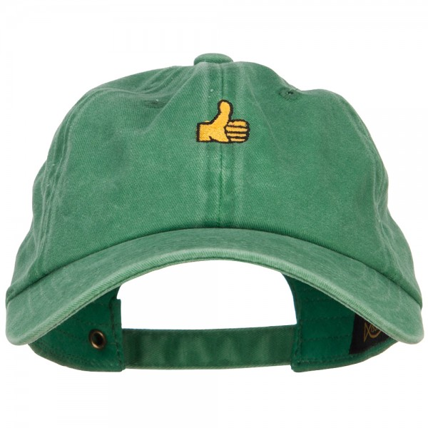 Thumbs Up Embroidered Unstructured Dad Cap.