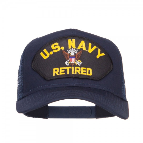 8f3f0b42101  19.49 US Navy Retired Military Patched Mesh Back Cap - Navy  19.49 ...