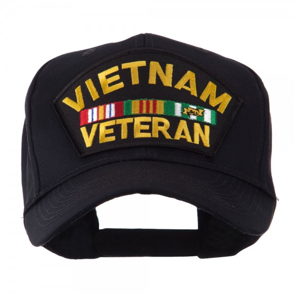US MILITARY EMBROIDERED ADJUSTABLE BALL CAP HAT NAVY RETIRED VIETNAM VETERAN
