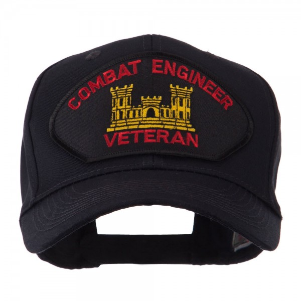 Embroidered Cap - Combat Engineer Veteran Military Large Patch Cap ... ab6bdabbb92