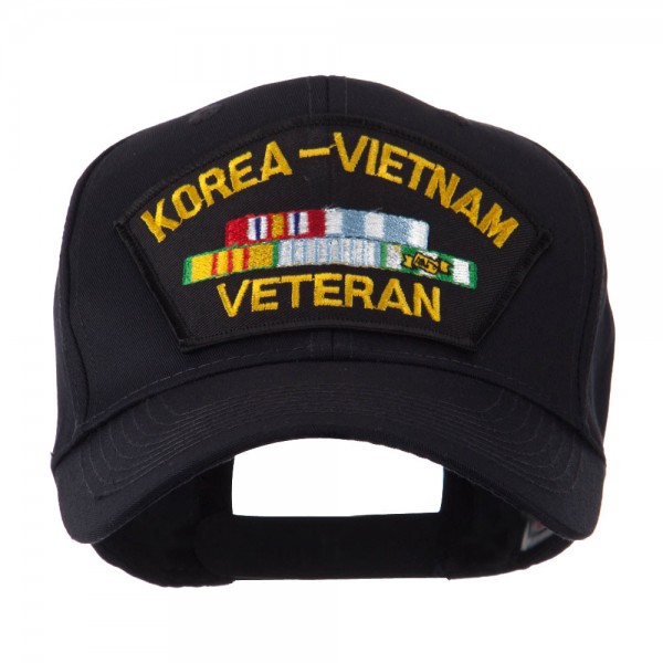 Embroidered Cap - Korea Vietnam Veteran Military Large Patch Cap ... 3960f0b2be1