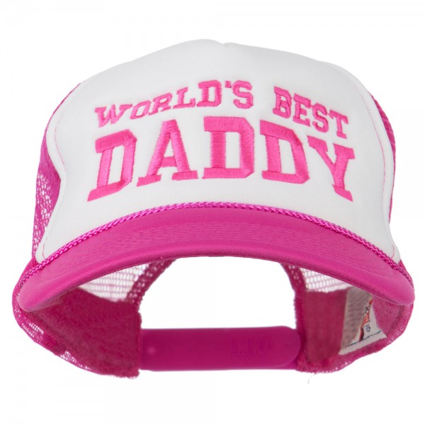 09b2ac46160 Embroidered Cap - Hot Pink White World s Best Daddy Embroidered Cap ...