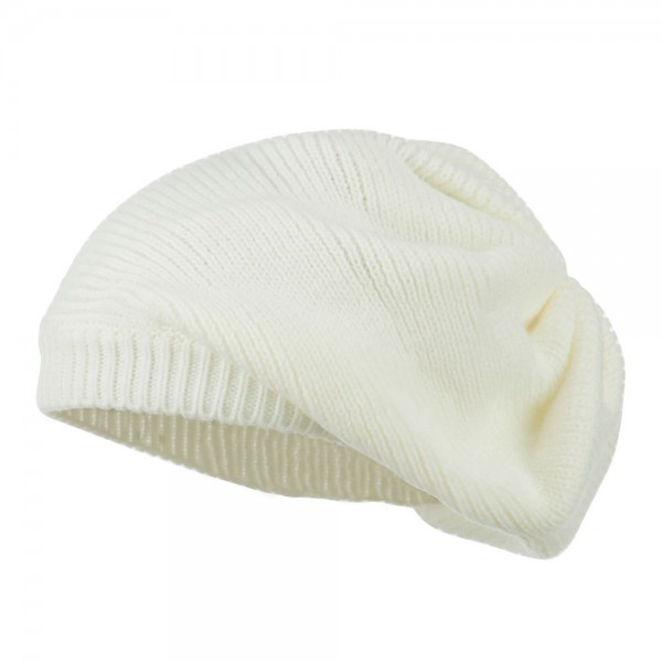 377e18fe685ec  28.49 Women s Ribbed Knit Beret - White  28.49 ...