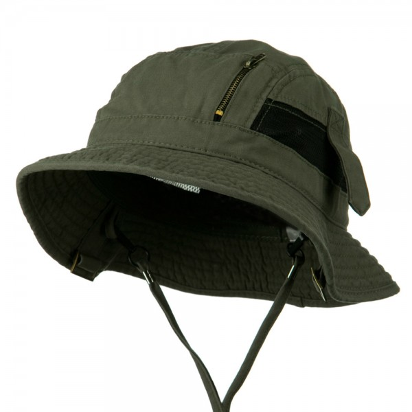 2f4751ef880 Outdoor - Olive Big Size Brushed Canvas Hat    e4Hats