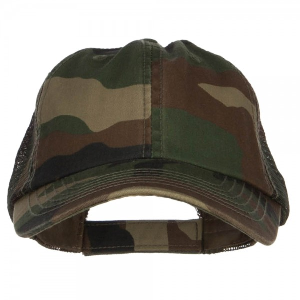 1bb100ee3237a Ball Cap - Pink Camo Washed Camouflage Trucker Cap