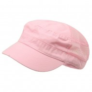 Enzyme Mesh Army Cap-Pink