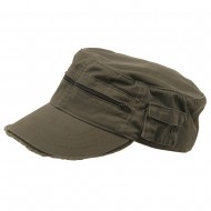 Zippered Enzyme Army Cap-Olive