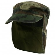 Army Cap with Flap-Camo