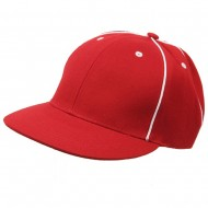 Prostyle Wool Look Baseball Cap-Red