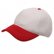 Deluxe Mesh Cap-White Red