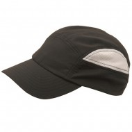 Half Side Polyester Casual Cap-Black Natural