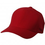 Wool Blend Cap (one size)-Red