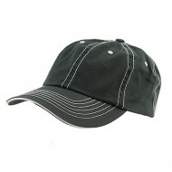 Low Profile Cotton Twill Washed Cap - Green White