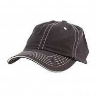 Low Profile Cotton Twill Washed Cap - Navy White