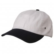 Normal Dyed Washed Cap-White Navy