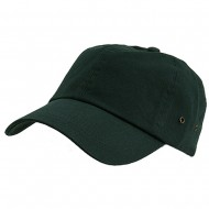 Normal Dyed Washed Caps-Dark Green