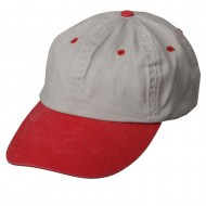 Pigment Dyed Wash Caps-Beige Red