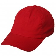 Washed Polo Cap (one size)-Red