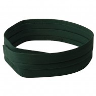 Pleated Cotton Twill Hat Band-Dk Green